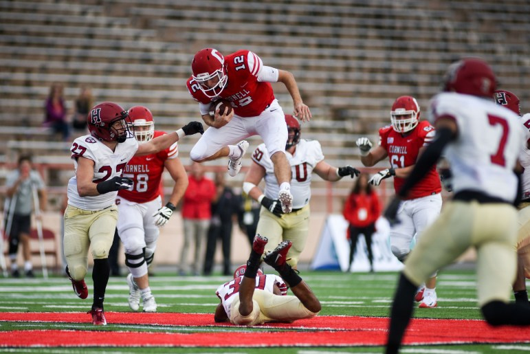 Senior Mike Catanese is listed as the starting quarterback on Cornell's official depth chart.