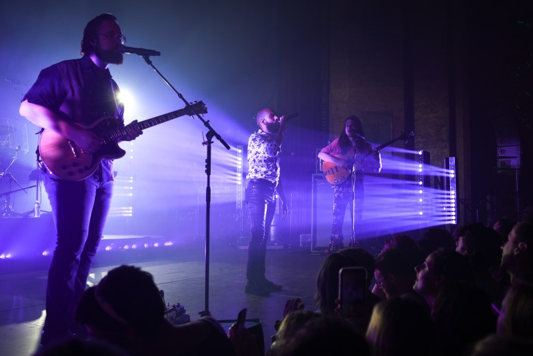 """Rainbow Kitten Surprise takes the stage at the State Theatre, performing hits like """"Matchbox,"""" """"Devil Like Me"""" and """"Holy War."""" (Boris Tsang/Sun Photography Editor)"""