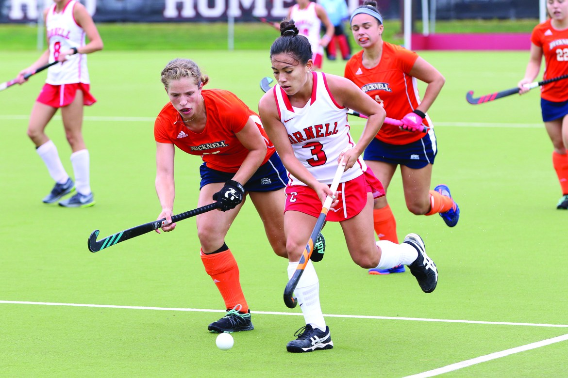 Women's field hockey secured a comfortable victory over Lafayette.