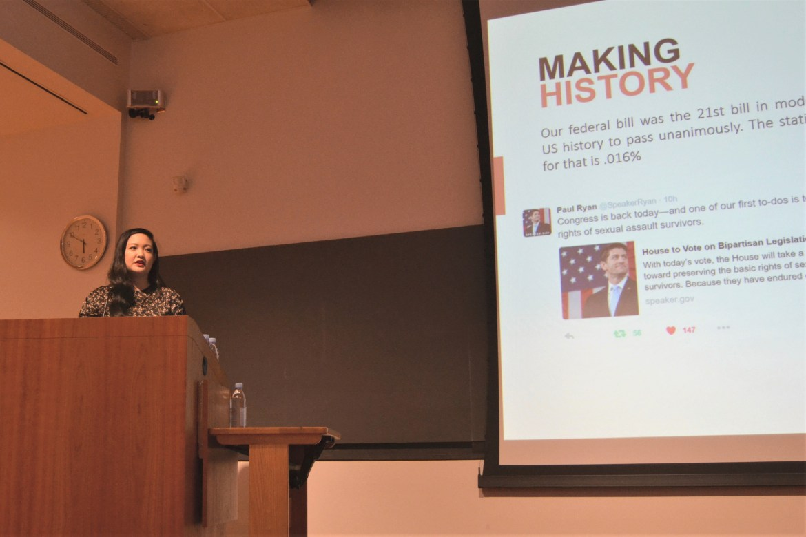 Activist Amanda Nguyen headlined the 10th Anniversary Celebration of the Asian and Asian American Center.