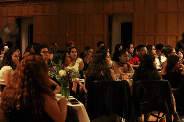 Cornellians celebrate Latino Heritage Month at the unity dinner held in 2017.