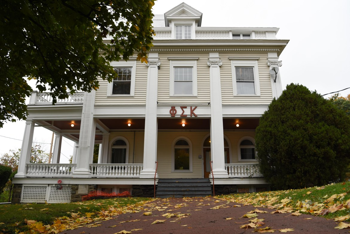 Phi Sigma Kappa fraternity house on October 17th, 2019.