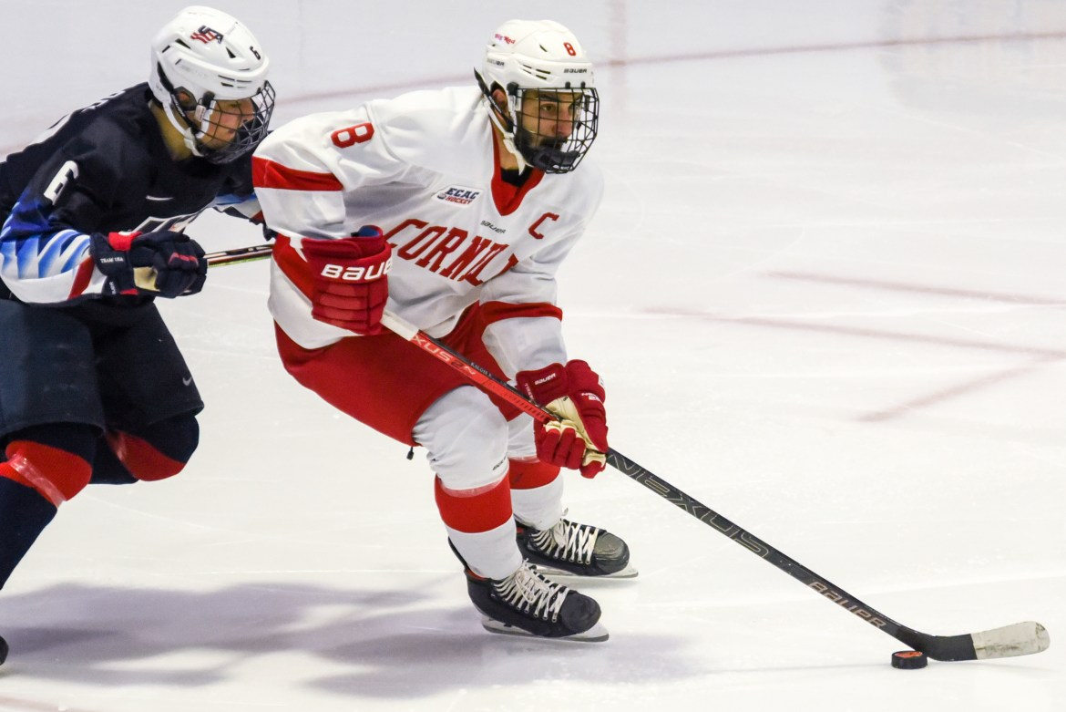 Yanni Kaldis returned to the lineup for Cornell after missing the team's first exhibition game.