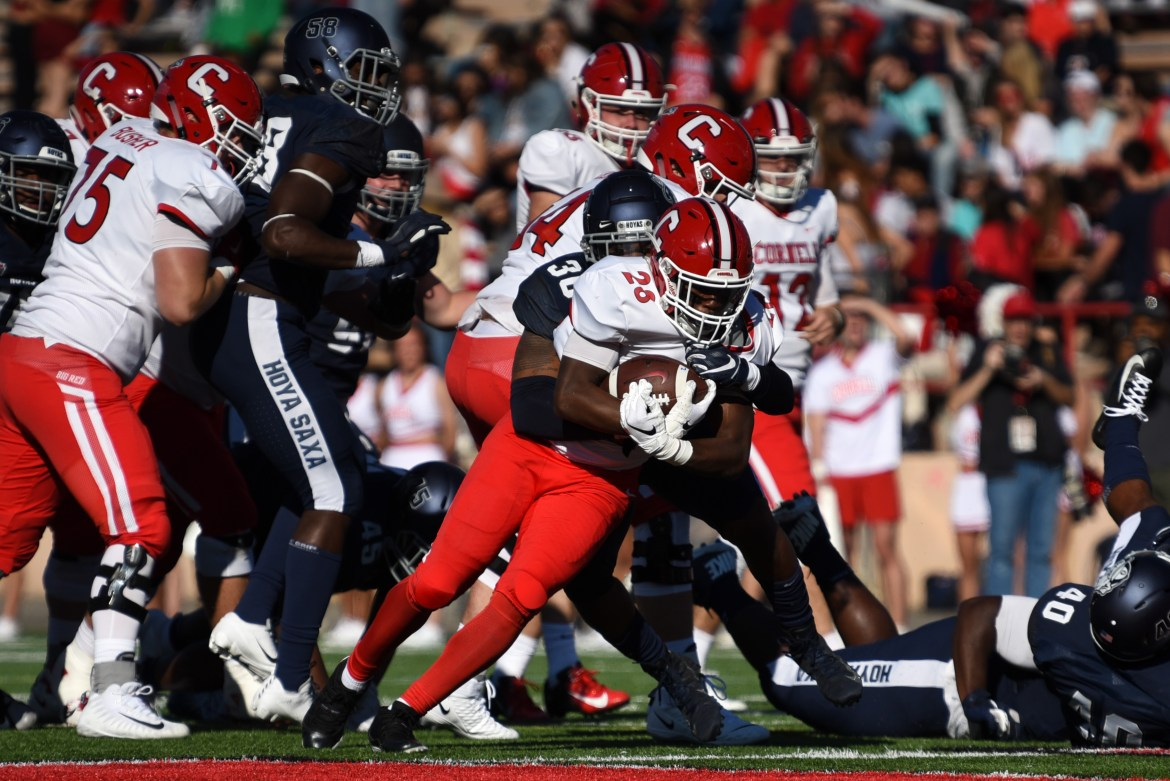 The Red fell to Georgetown as its shaky offense continued to struggle to find momentum.