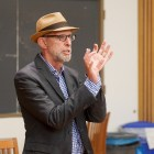 Professor Joseph Margulies gives a lecture on incarceration on September 26, 2019.