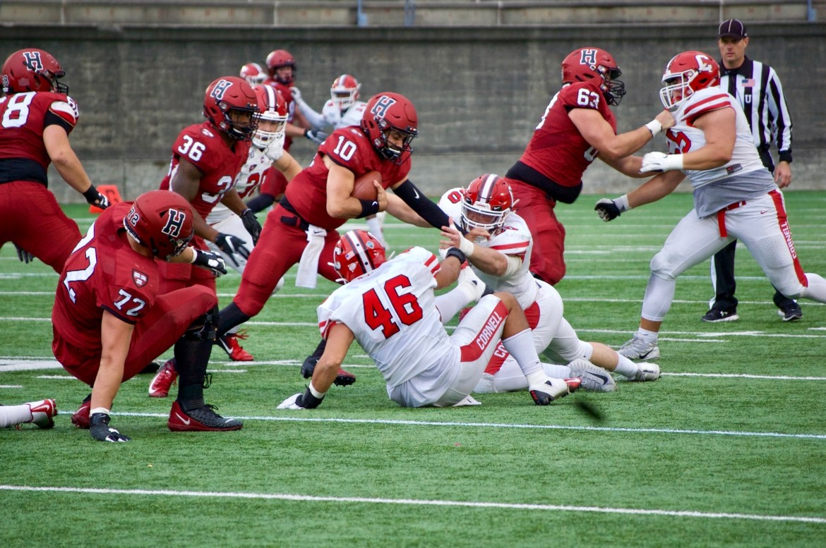 Despite suffering numerous injuries, the Red held an early lead against the Crimson.