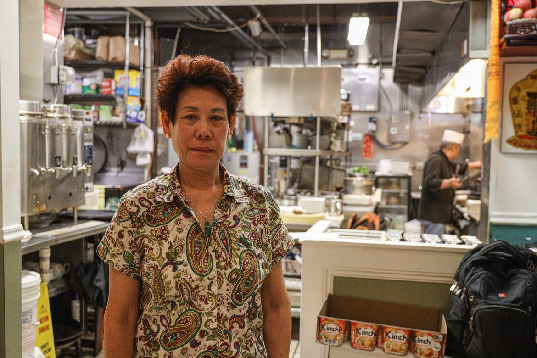 Helen Wong standing in her restaurant, Hai Hong. (Michael Wenye Li / Sun Senior Photographer)