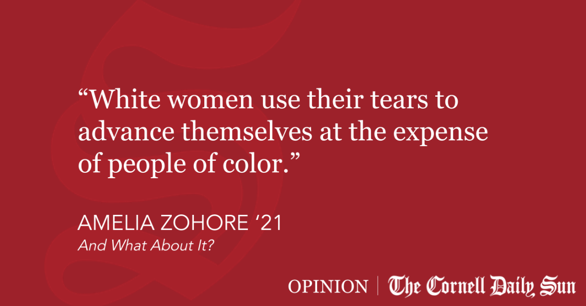 ZOHORE | White Woman Tears | The Cornell Daily Sun