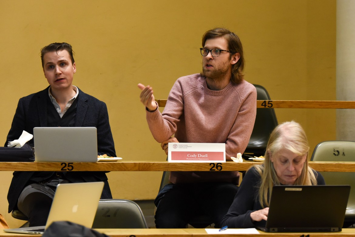 Students fielded a variety of questions at a GPSA meeting Monday, trying to decide what information would be included in a coming guide on university finances.