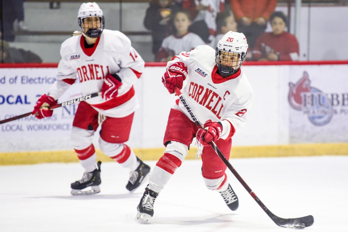 After Syracuse tied it up early, Cornell scored late into the second frame and added on two more goals to earn yet another win.