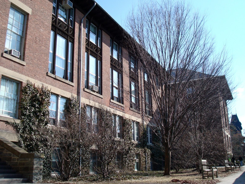 Cornell's Rockefeller Hall, often a hub of literary talks.