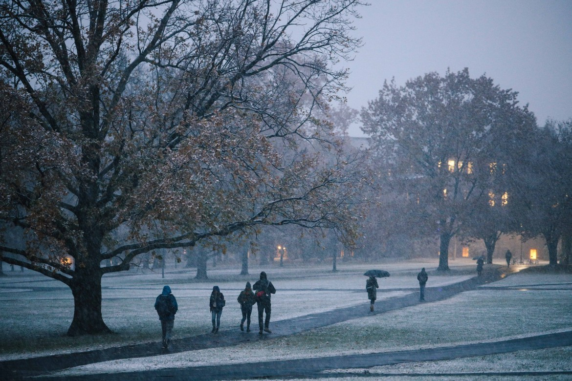 Cornell University canceled classes on Monday — just the fourth time its done so in decades.