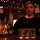 Andrea Anaya '22 serves up shots at Level B.