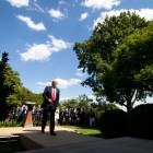 FILE -- President Donald Trump after announcing his intention to abandon the Paris Agreement in the Rose Garden of the White House in Washington, June 1, 2017. The Trump administration formally notified the United Nations on Monday that it would withdraw the United States from the Paris Agreement on climate change, leaving global climate diplomats to plot a way forward without the cooperation of the world's largest economy. (Doug Mills/The New York Times)