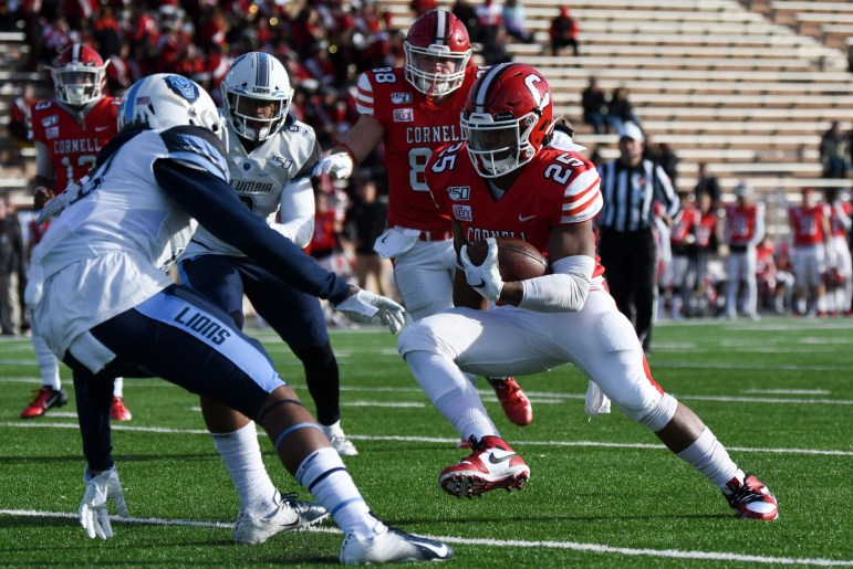 Cornell's rushing attack combined for 219 yards on the ground.