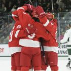 Cornell scored six goals in a blowout win over the Spartans on Saturday night.