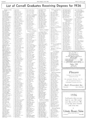 Of this roster of graduates published in 1936, Margaret Lawrence '36 was the only black student.