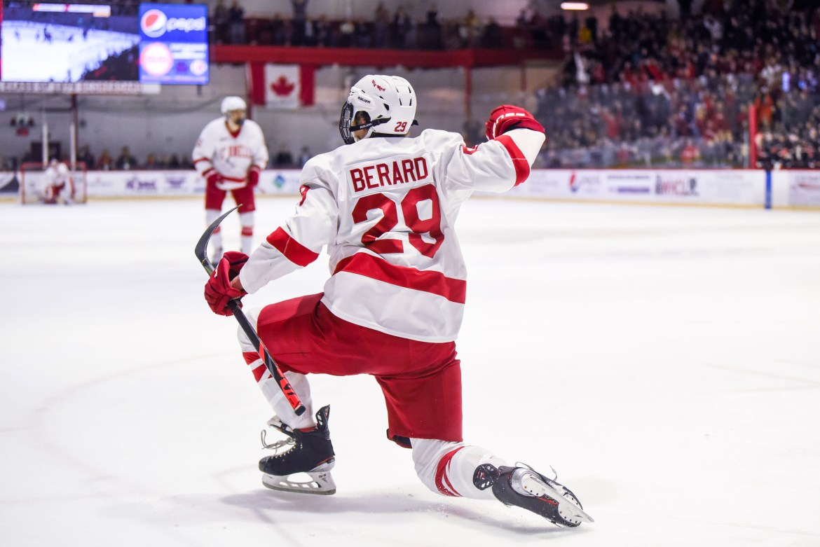 Freshman Ben Berard entered Friday night with only one collegiate goal, but he added two scores against the Buckeyes to propel the Red to victory.