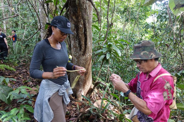 Shorna Allred during her experiential learning trip in Borneo