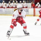 Paige Lewis erased a rare Cornell deficit when she tied the game against Yale at one goal apiece. The Red went on to ultimately claim victory.
