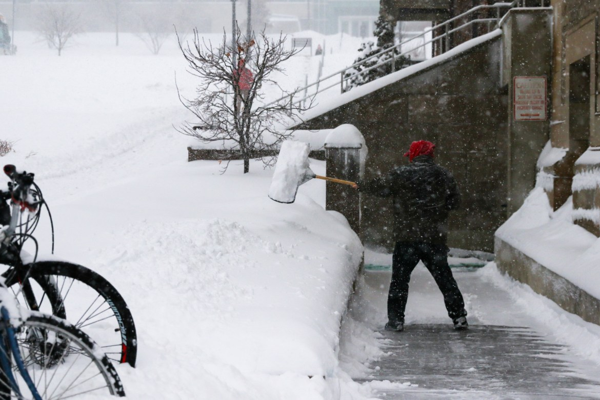 Cornell Dining faces confusion as some workers show up as Cornell delays to close campus because of the storm.