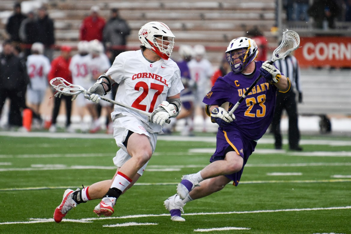 Cornell's amped up offense, combined with its stellar defensive effort, handily defeated Albany.