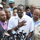 Yusef Salaam outside of City Hall in New York in June of 2014.