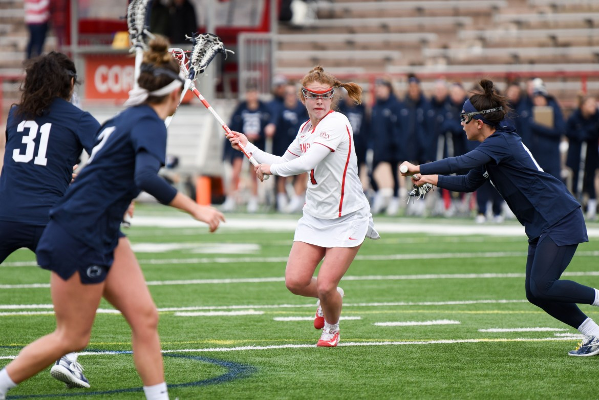 Cornell spilt its most recent pair of games with both contests decided by second-half rallies.