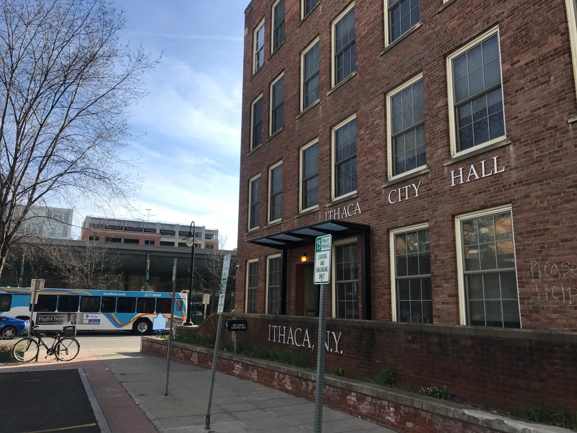 """Members of the public will no longer be allowed in City Hall or any other Ithaca city facility,"""" Mayor Svante Myrick '09 wrote in a statement."""