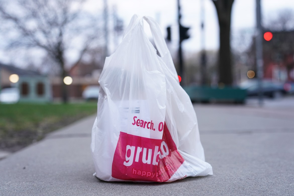 New York State has banned the use of plastic bags. Ithaca is in compliance, and is charging a fee for paper bags.