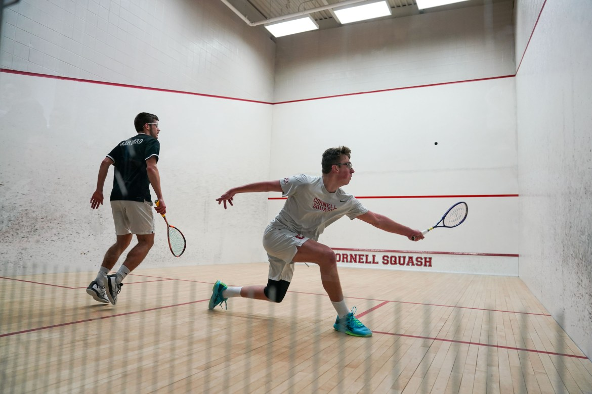 The men's team exhibited its composure in close call matches against Franklin & Marshall College and Dartmouth.
