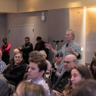 Faculty voice their concerns about virtual classes' effect on students during the March 12 Faculty Senate Meeting.