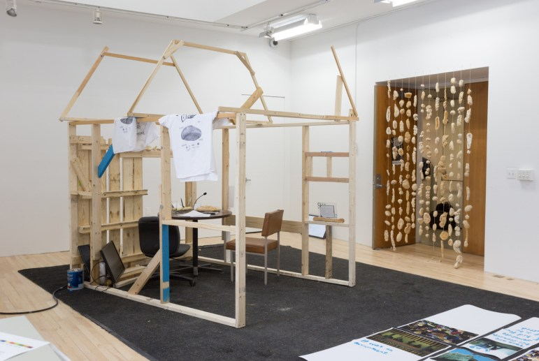 """Uncle Boy's Landscaping, install shot from """"Midnight Crisis"""""""