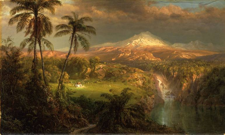 """""""Passing Shower in the Tropics"""" (1872) by Frederic Edwin Church"""