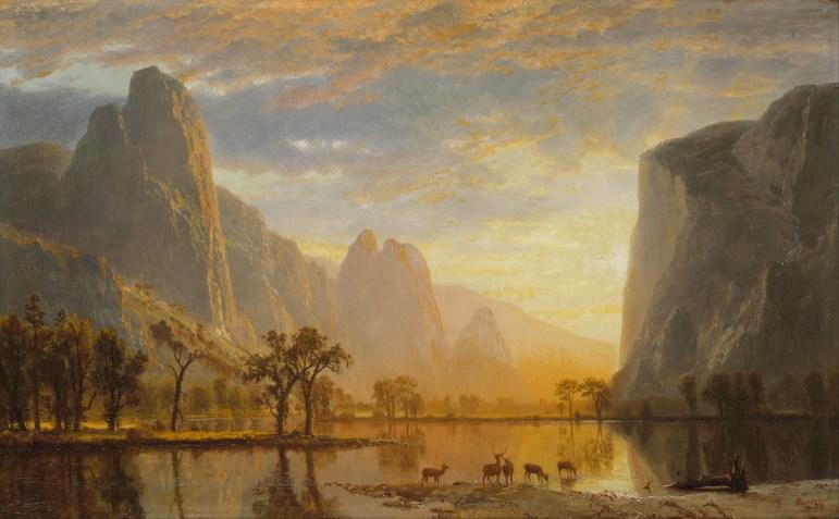 """""""Valley of the Yosemite"""" (1864) by Albert Bierstadt"""