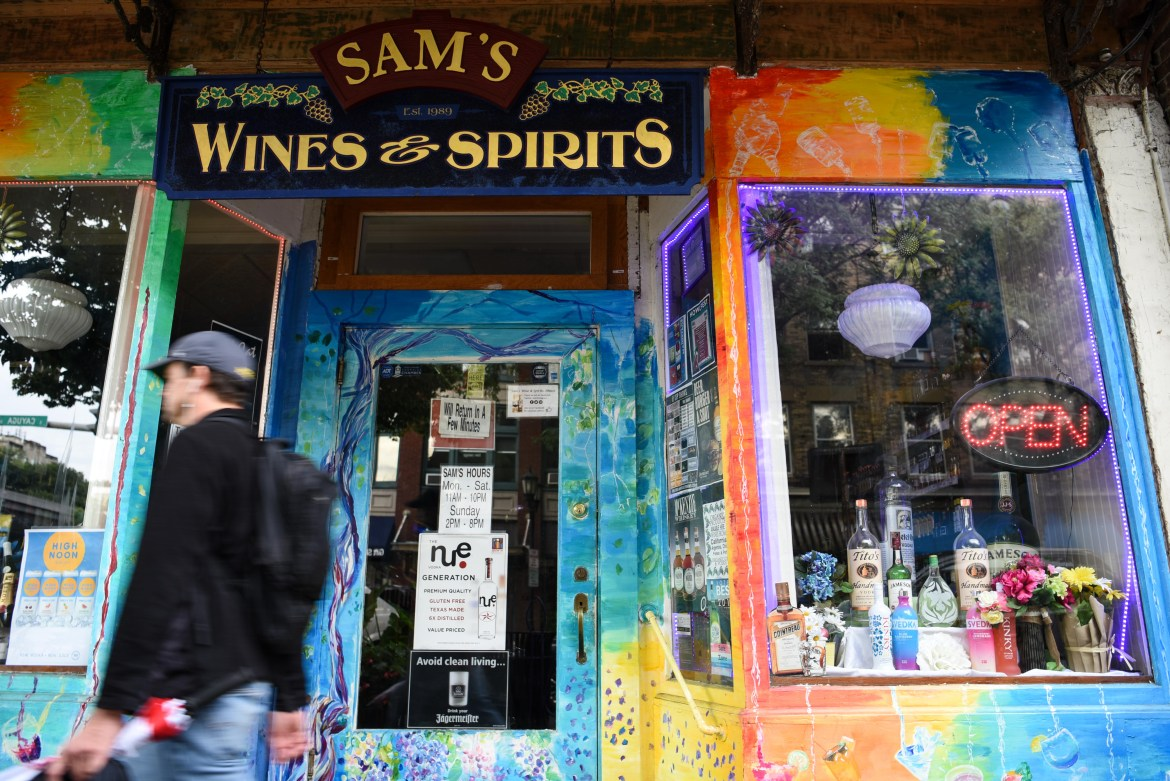 Some Ithaca liquor stores, like Sam's Wine and Spirits, have reported an increase in sales, despite social distancing measures.