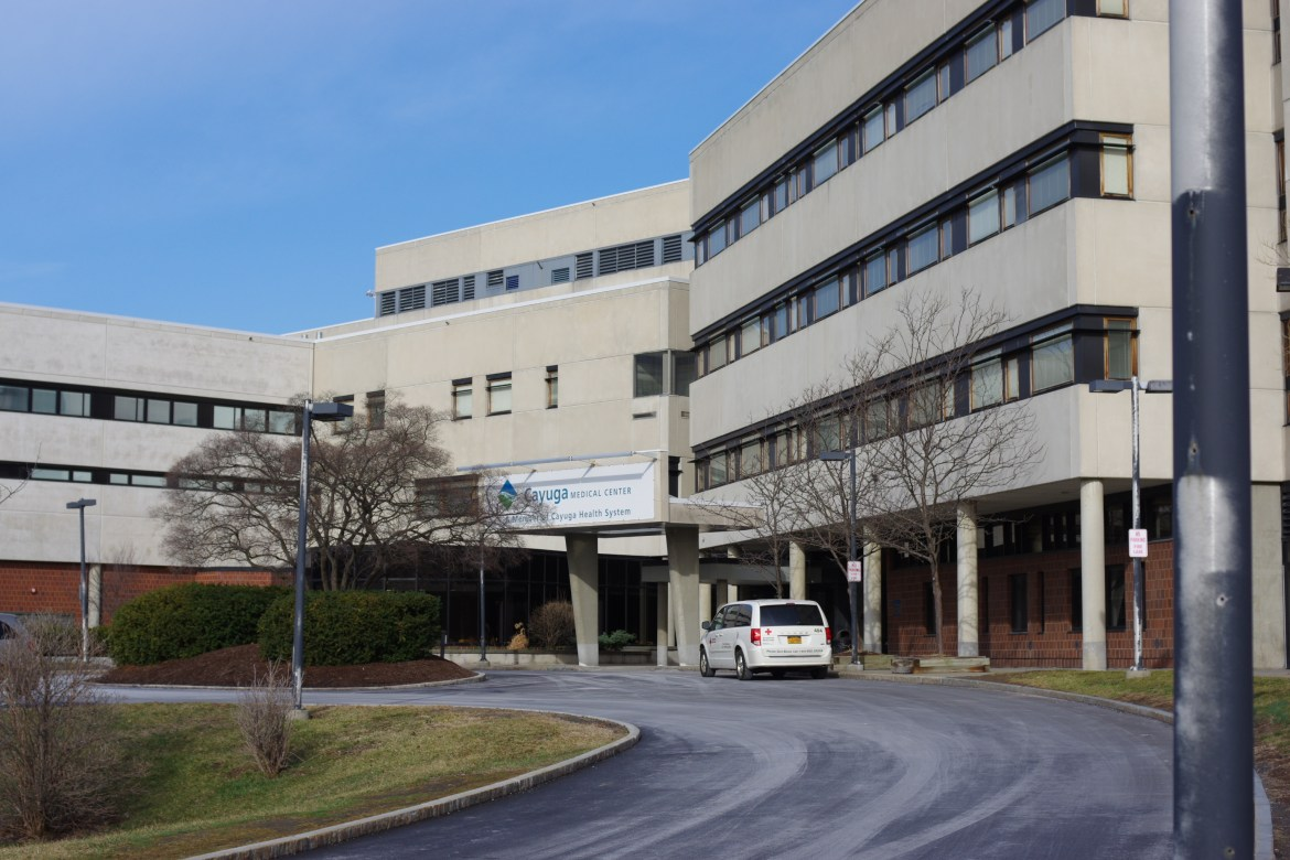 A patient at Cayuga Medical Center died from coronavirus complications on Friday.