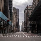 An empty Fifth Avenue in Manhattan on April 5, 2020.
