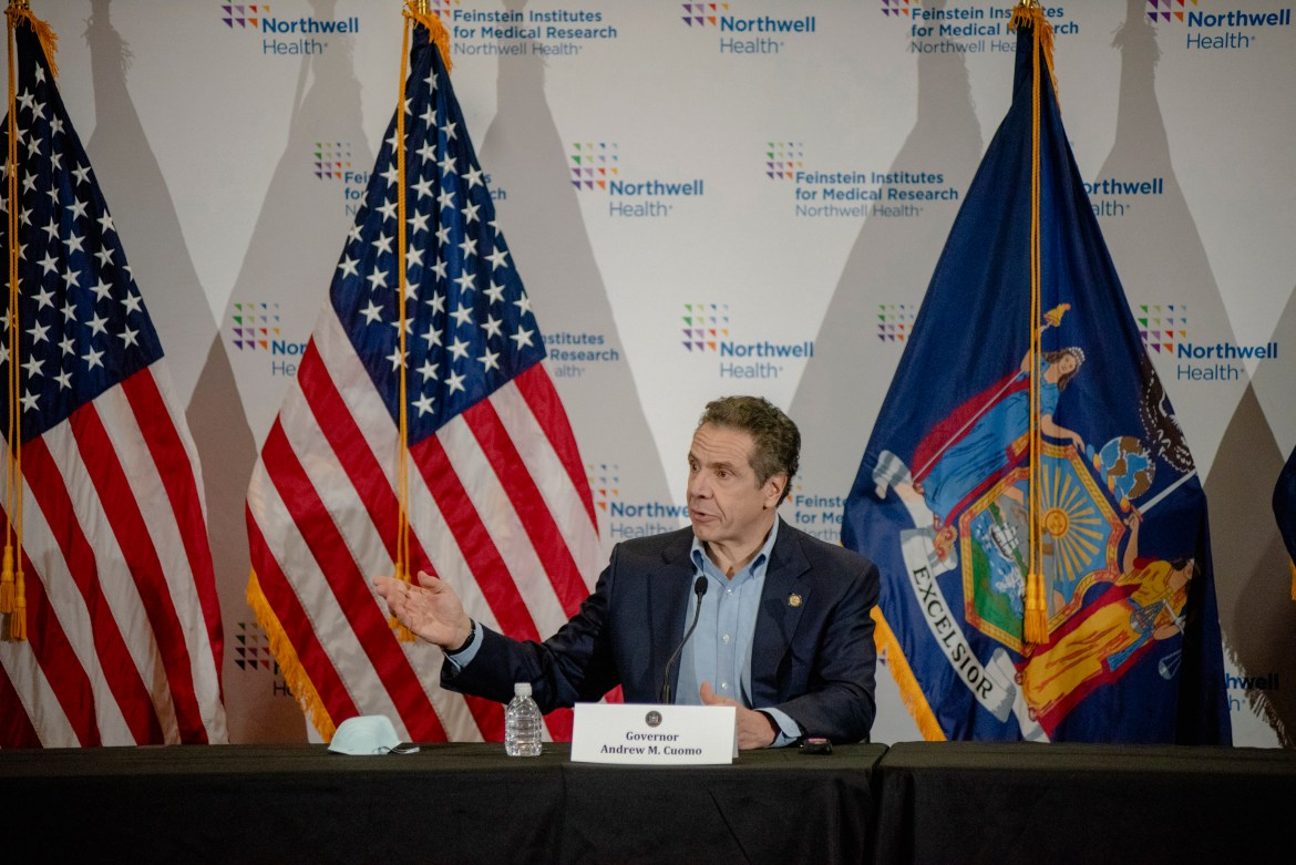 In his daily briefing on April 17 Gov. Andrew Cuomo announced several measures  required to move the state toward reopening- one of which was wide scale testing.