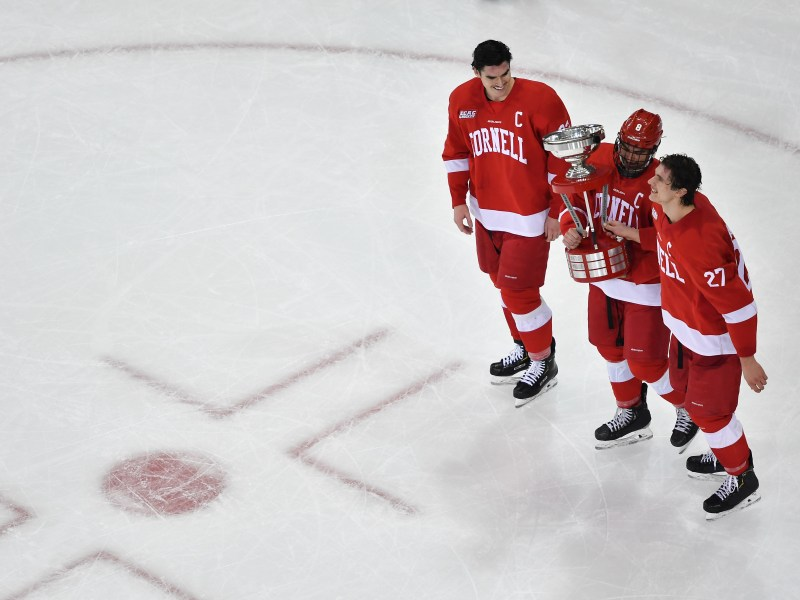Captains Morgan Barron and Yanni Kaldis were recognized as All-Americans after leading Cornell to a 23-2-4 record.