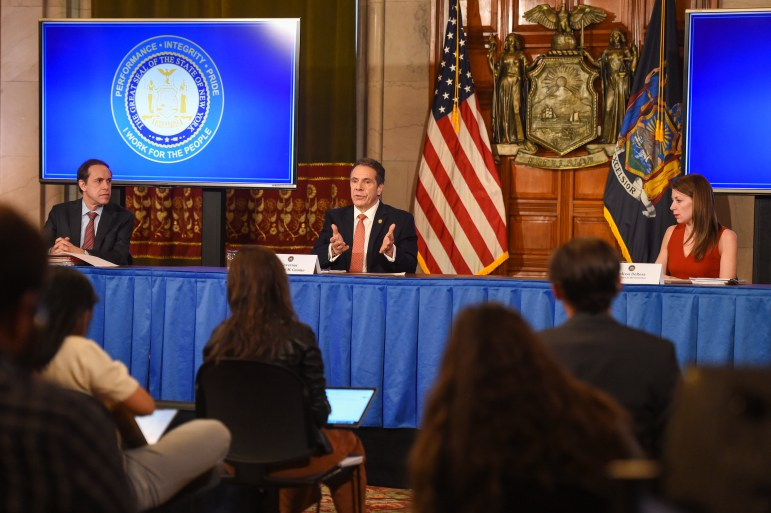 A critical component of Gov. Cuomo's COVID-19 response has been transparency- DeRosa and Cuomo have hosted daily briefings to update the public on the rapidly evolving situation.