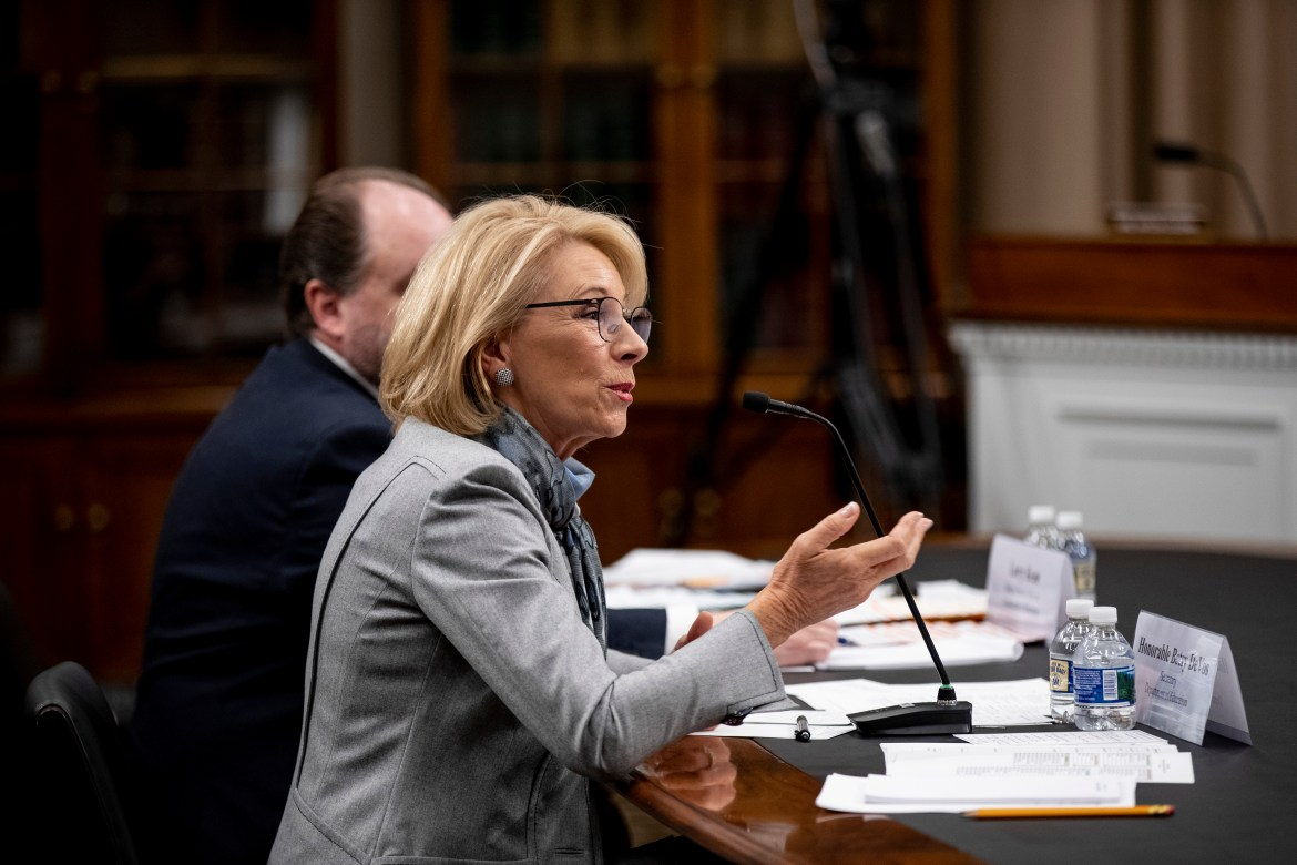 Secretary of Education Betsy DeVos updated regulations for universities dealing with sexual misconduct, bolstering due-process rights for the accused.
