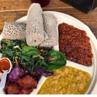 Ethiopian cuisine with a vegan twist from T&T Lifestyle in Los Angeles. (Courtesy of Tete from T&T Lifestyle)