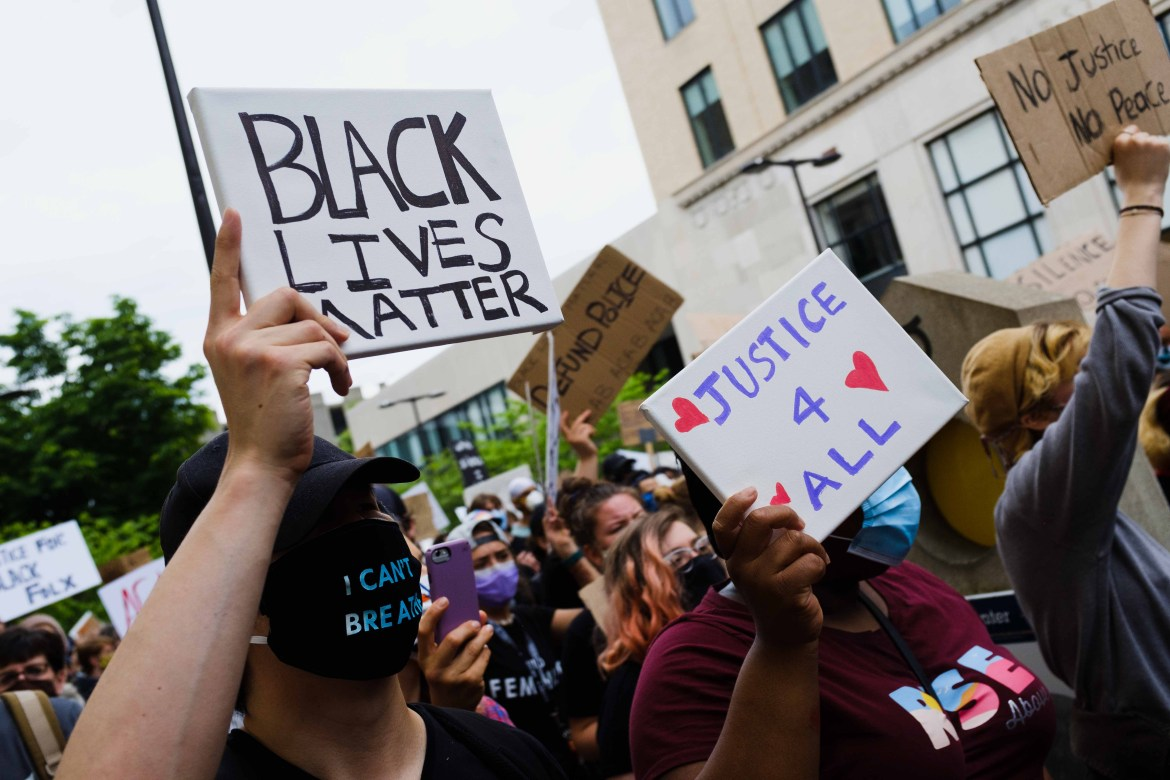 Cornellians and the greater Ithaca community joined the nation in protest against racist police brutality in a march from Ho Plaza to the Ithaca Police Office on Wednesday, June 2.