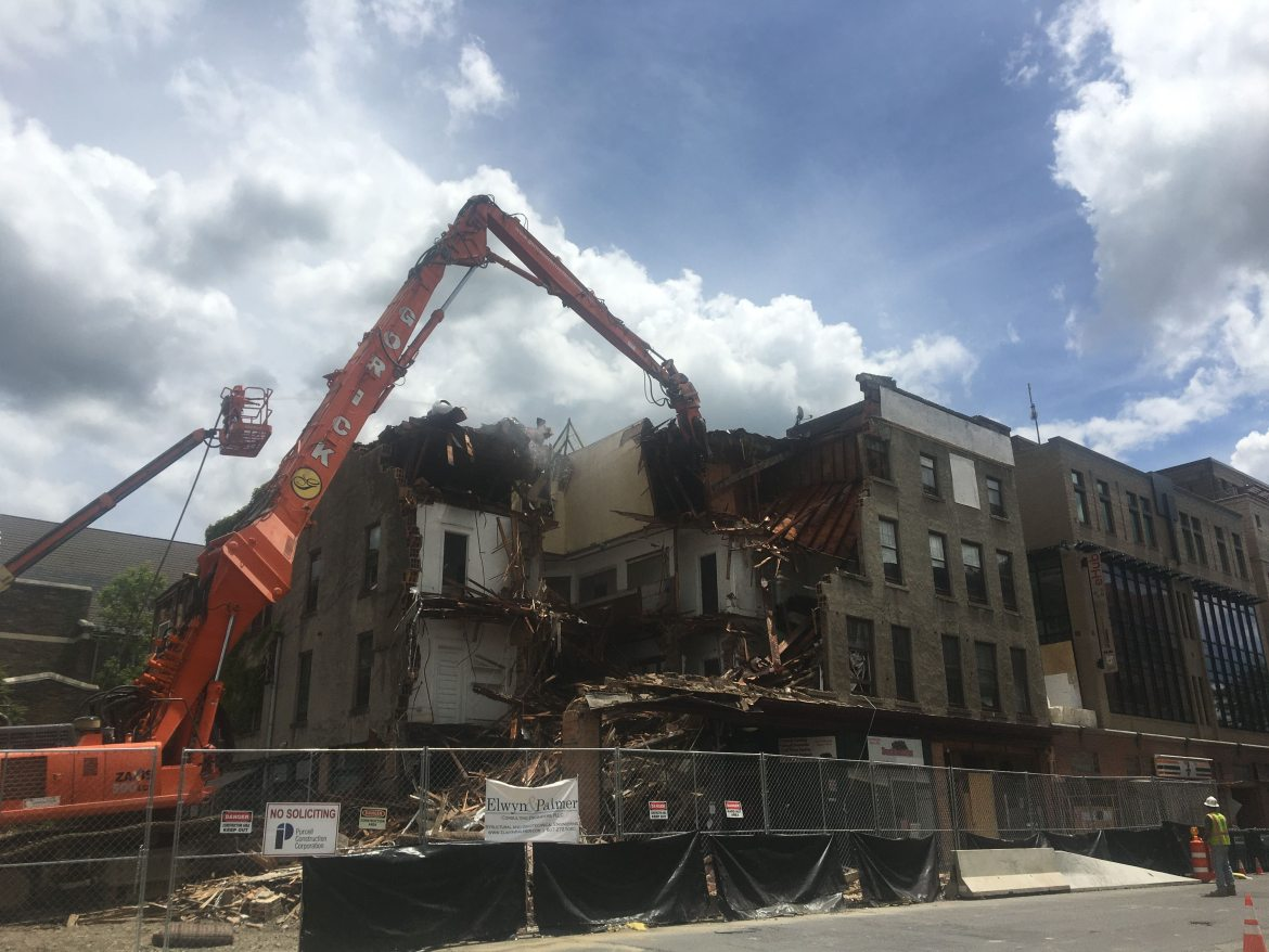 On June 18, a construction crew began the work of demolishing Collegetown's Chacona Block, marking the final hours of the 109-year-old building.