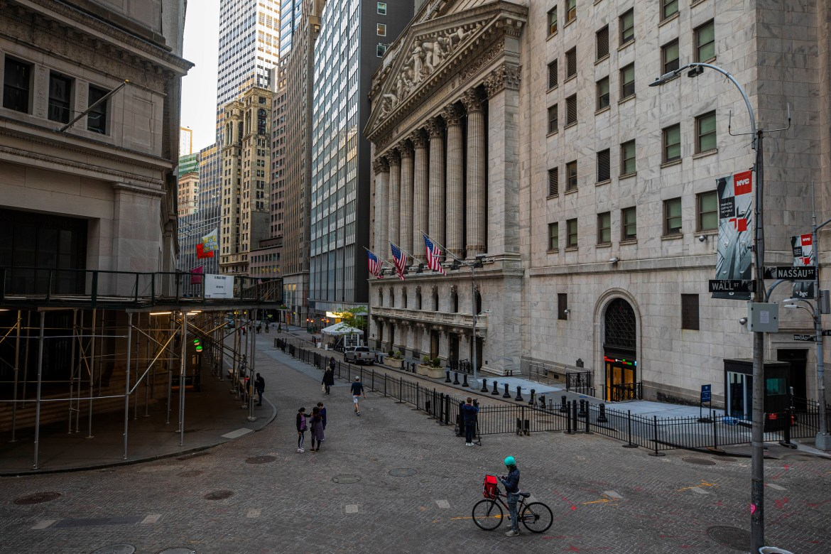 The New York Stock Exchange (NYSE) building, on Thursday, May 21, 2020