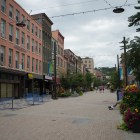 Downtown Ithaca on Aug. 19, 2017. Three quarters of Black workers in Tompkins County make less than a living wage.