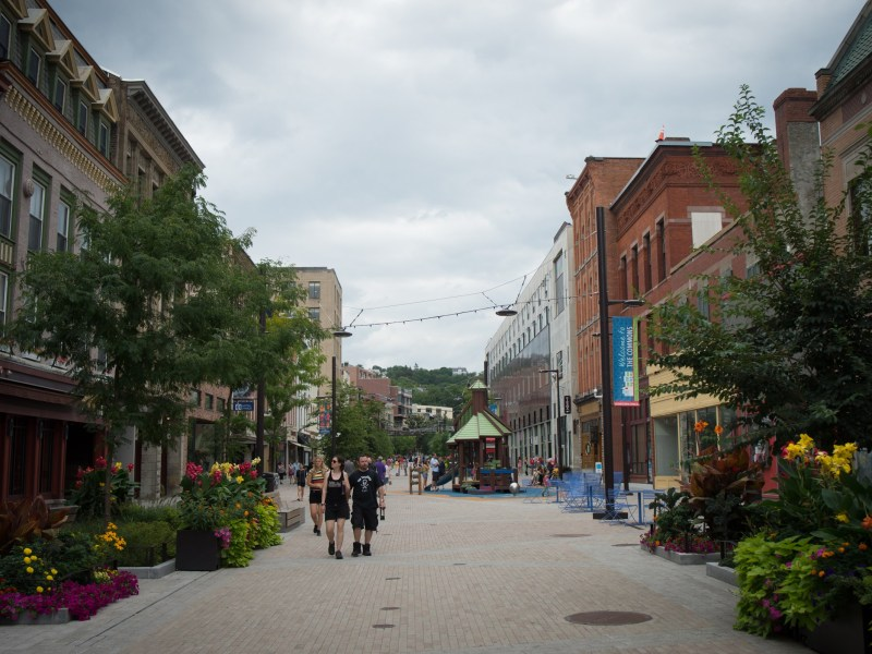 The Ithaca Commons, August 19th, 2017.