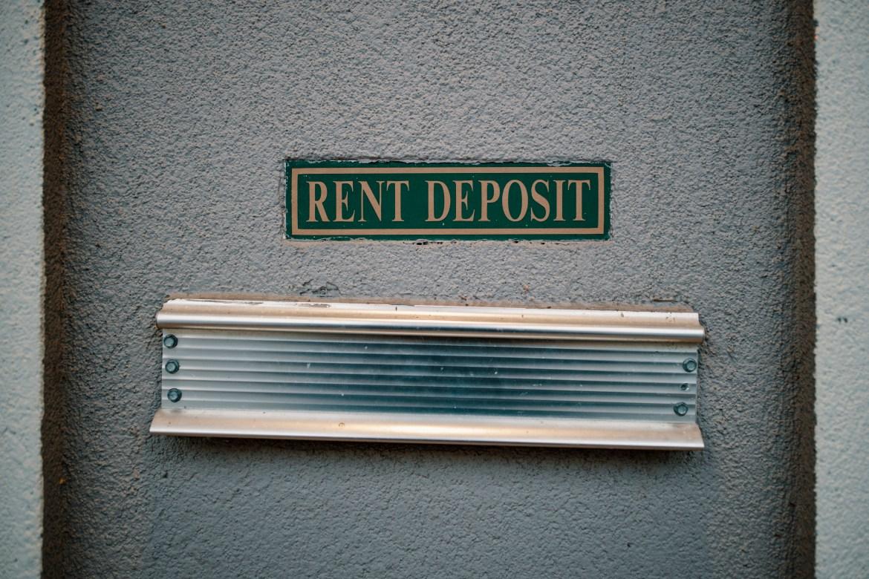 A rent deposit slot at an apartment complex