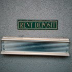 A rent deposit slot at an apartment complex